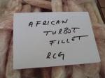 Frozen African Turbot Fillet
