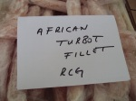 Frozen African Turbot Fillet